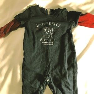 Ralph Lauren POLO club Baby 3 Mo One Piece Romper
